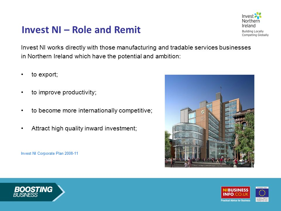 Invest NI – Role and Remit
