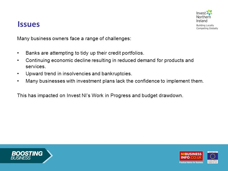 Issues Many business owners face a range of challenges: