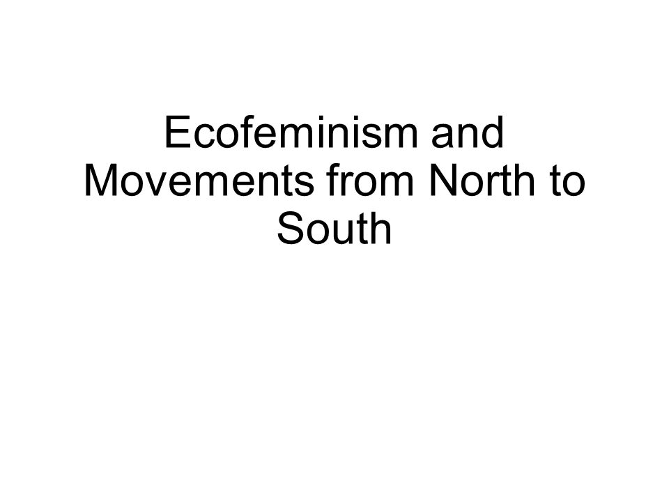 Ecofeminism and Movements from North to South