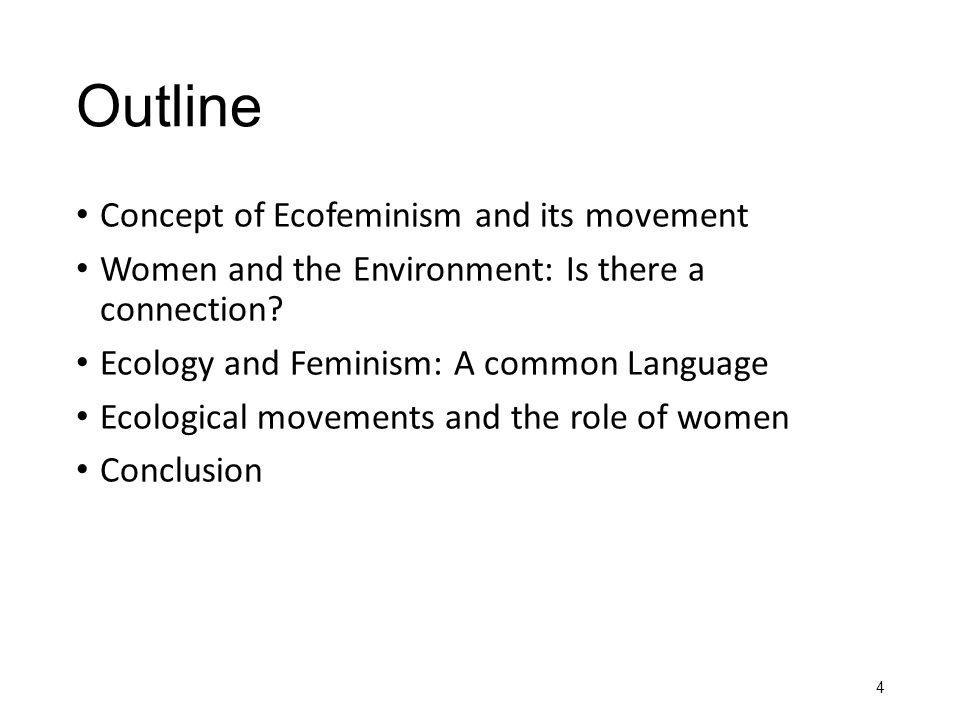 Outline Concept of Ecofeminism and its movement