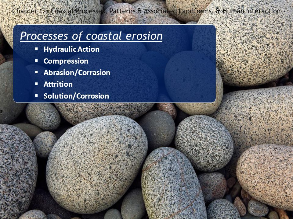 Processes of coastal erosion