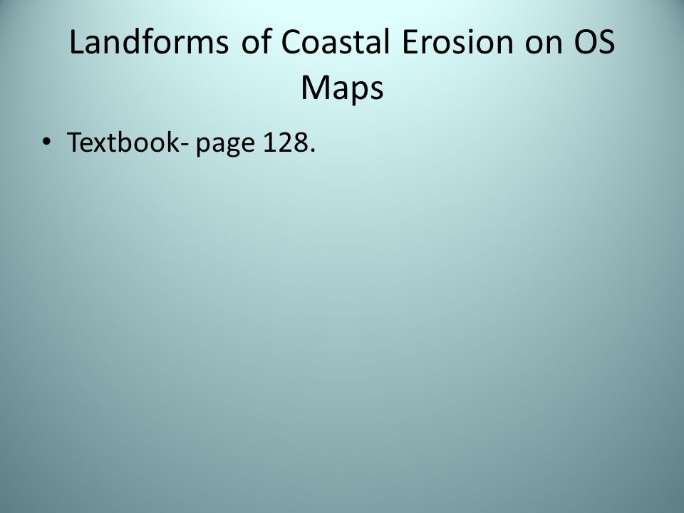 Landforms of Coastal Erosion on OS Maps