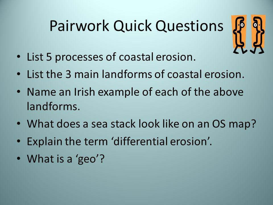 Pairwork Quick Questions