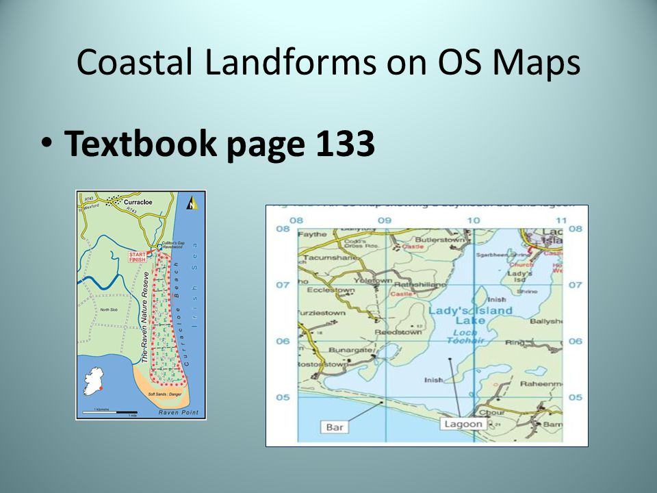 Coastal Landforms on OS Maps