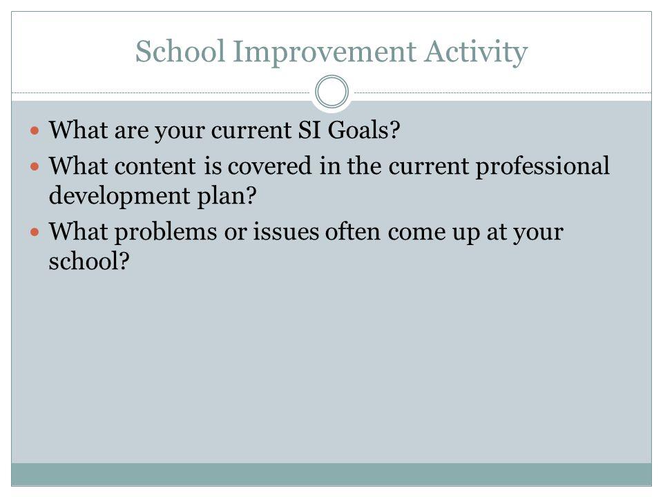 School Improvement Activity
