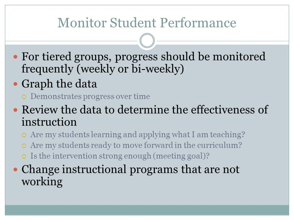 Monitor Student Performance