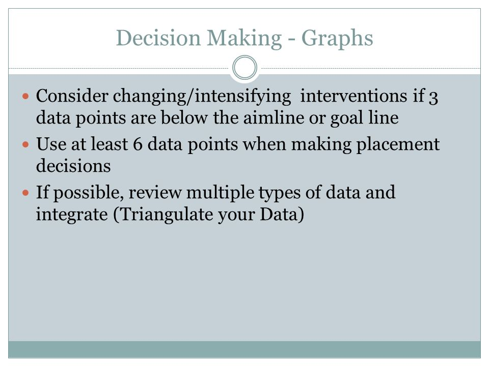 Decision Making - Graphs