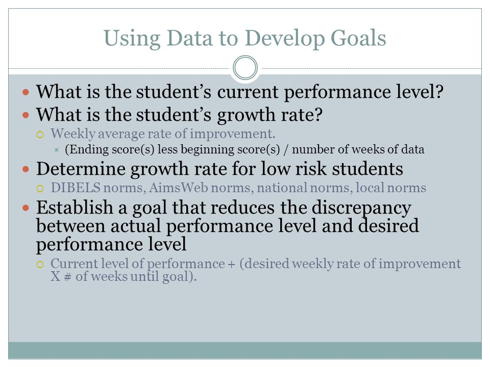 Using Data to Develop Goals