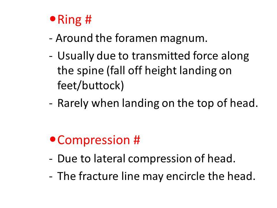 Ring # Compression # - Around the foramen magnum.