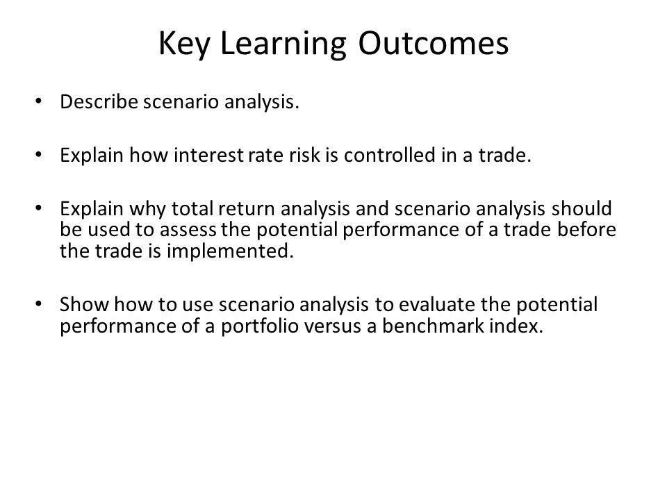 Key Learning Outcomes Describe scenario analysis.