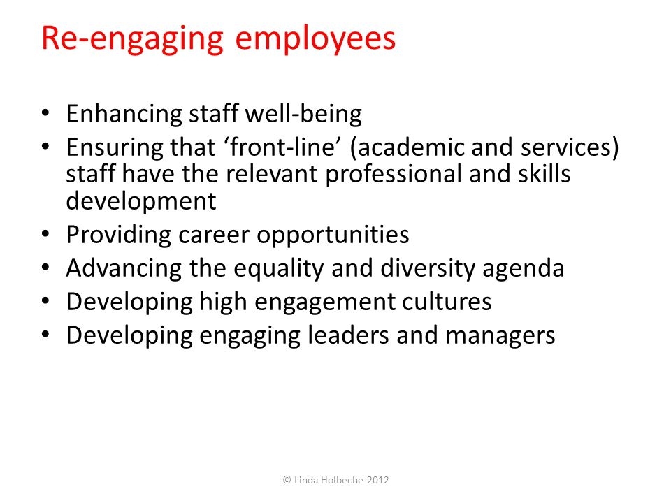Re-engaging employees