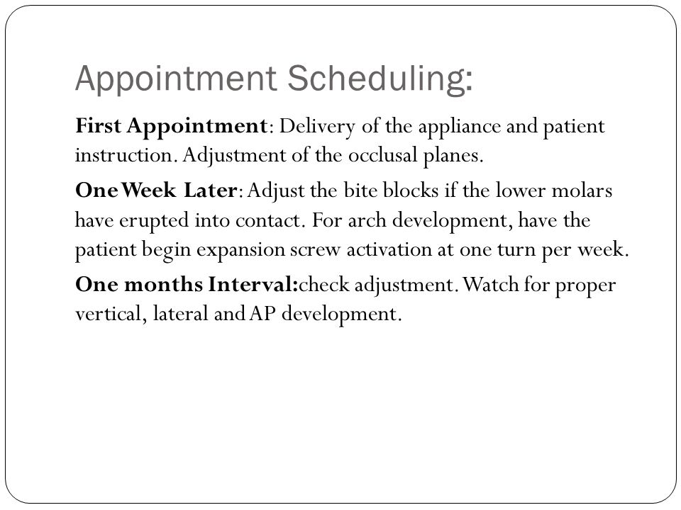Appointment Scheduling: