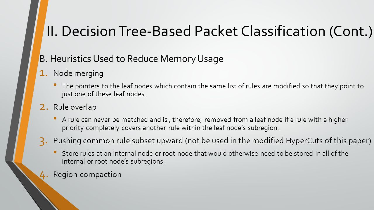 II. Decision Tree-Based Packet Classification (Cont.)