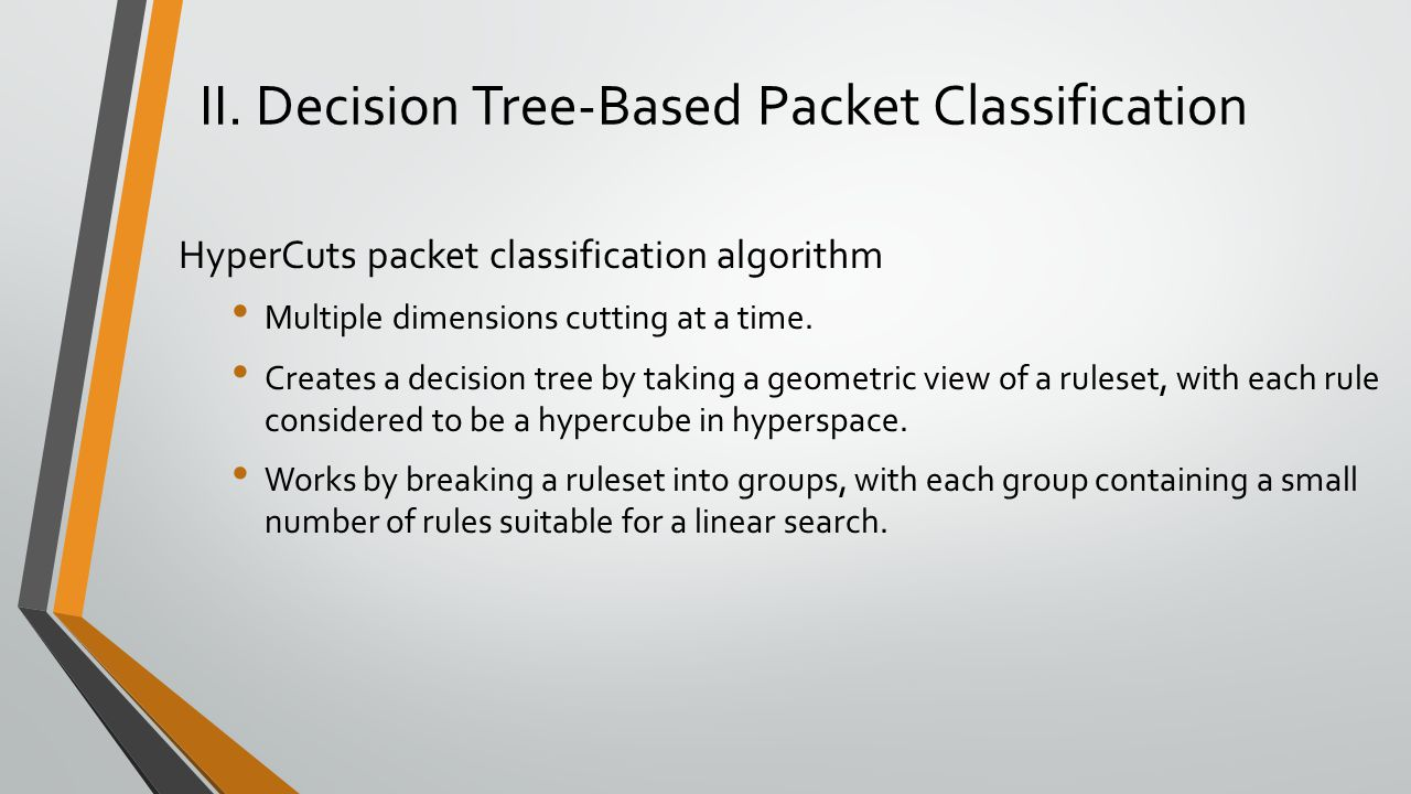 II. Decision Tree-Based Packet Classification