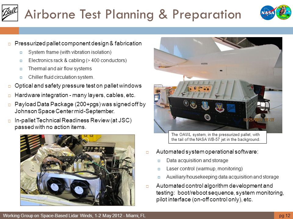 Airborne Test Planning & Preparation