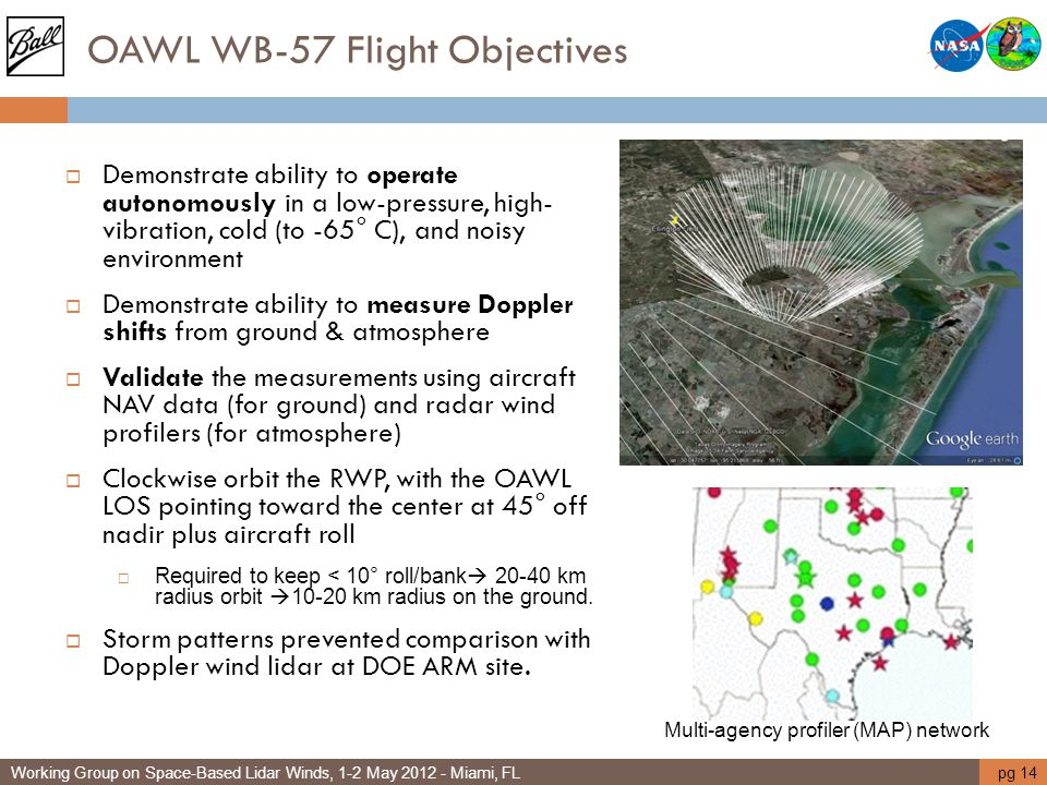 OAWL WB-57 Flight Objectives