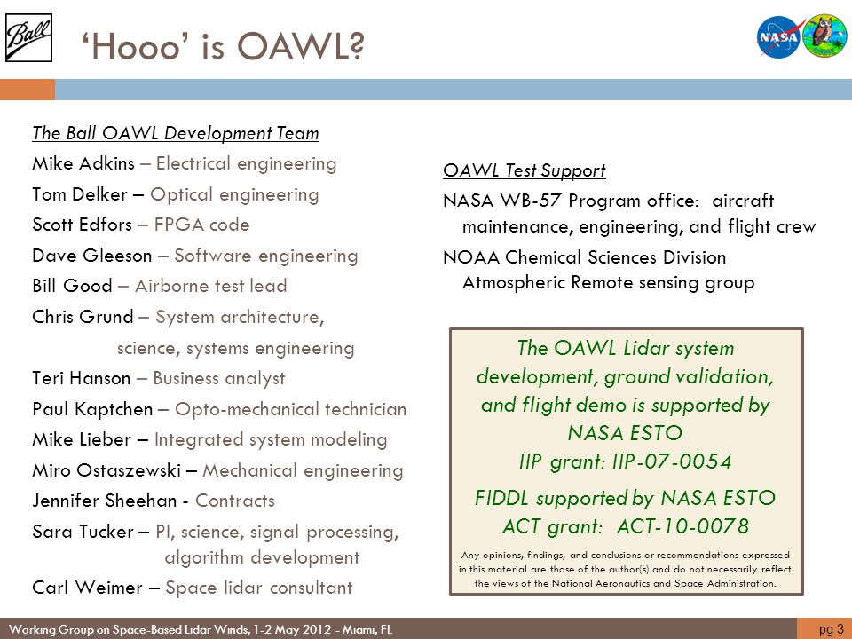 FIDDL supported by NASA ESTO ACT grant: ACT-10-0078