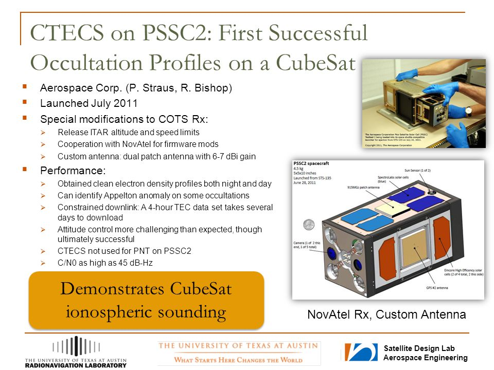 CTECS on PSSC2: First Successful Occultation Profiles on a CubeSat