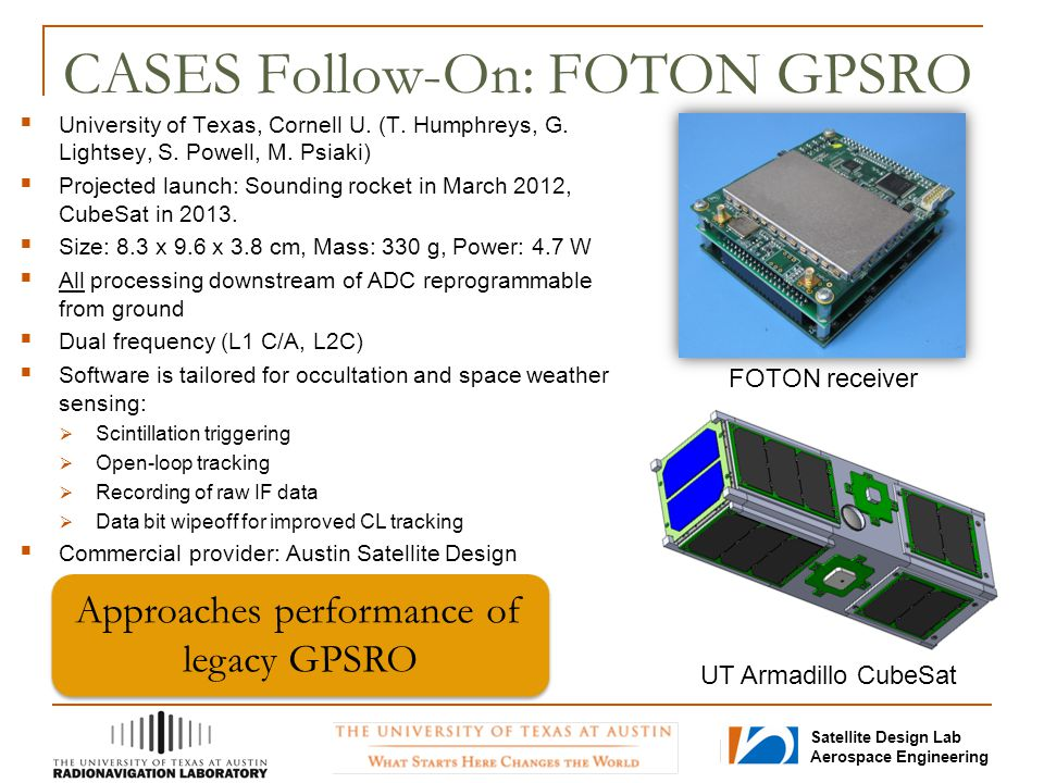 CASES Follow-On: FOTON GPSRO