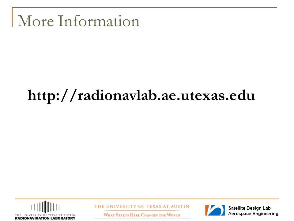 More Information http://radionavlab.ae.utexas.edu