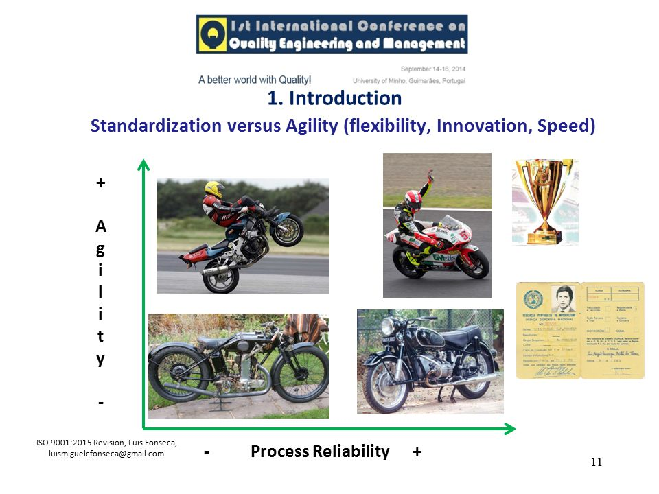Standardization versus Agility (flexibility, Innovation, Speed)
