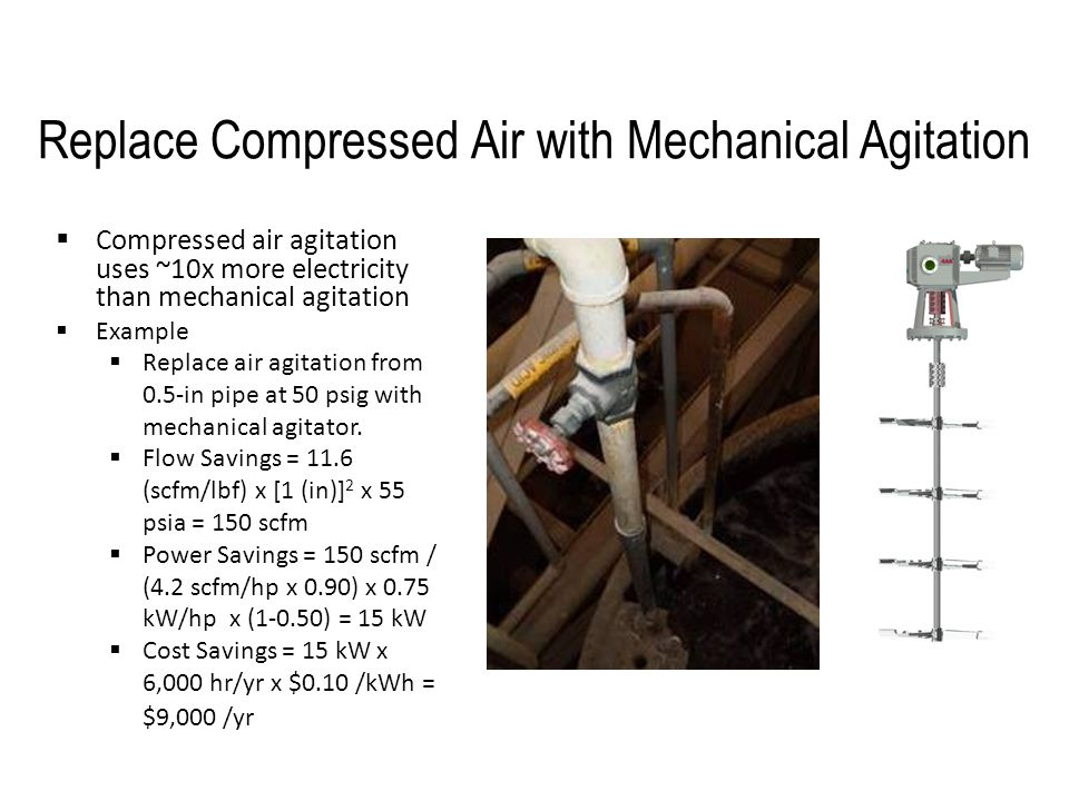 Replace Compressed Air with Mechanical Agitation
