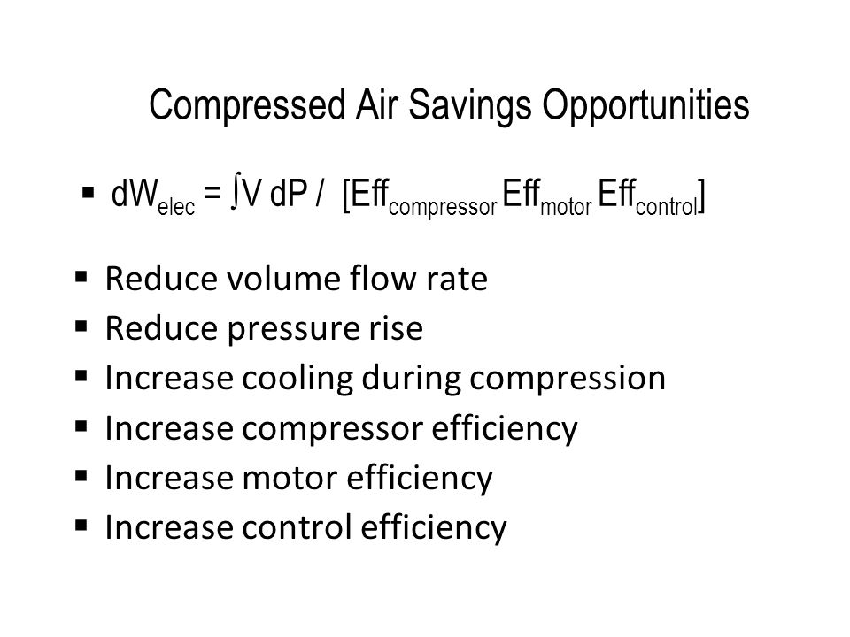 Compressed Air Savings Opportunities