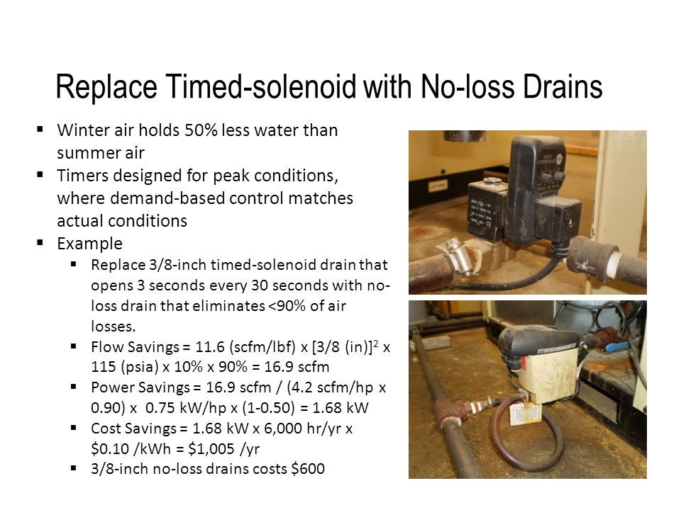 Replace Timed-solenoid with No-loss Drains