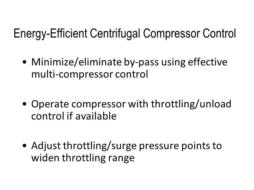 Energy-Efficient Centrifugal Compressor Control