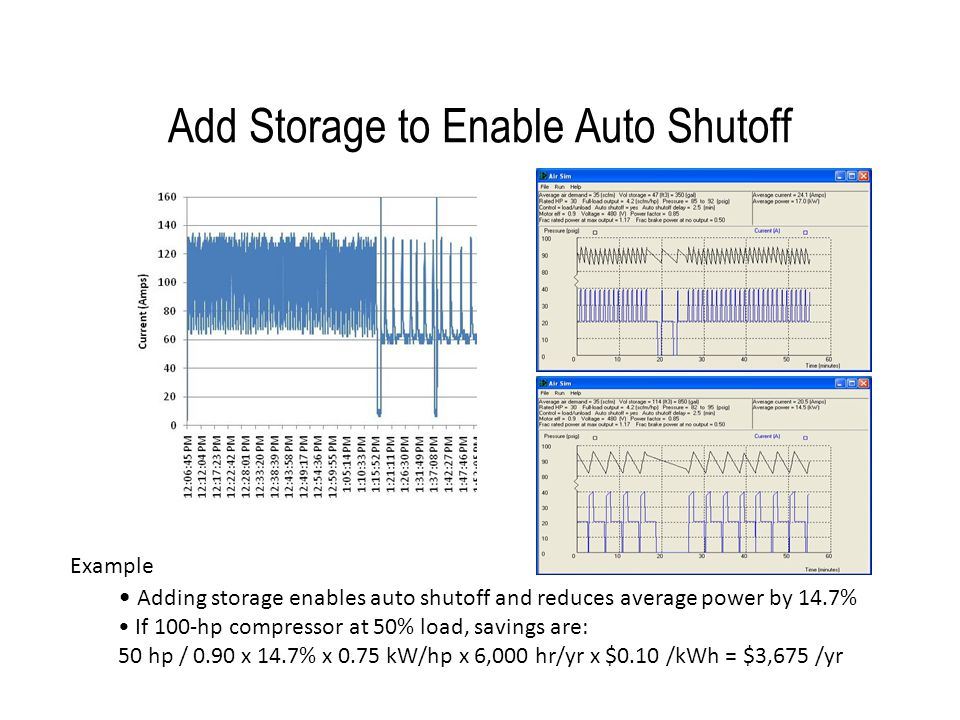 Add Storage to Enable Auto Shutoff