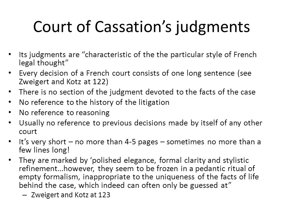 Court of Cassation's judgments