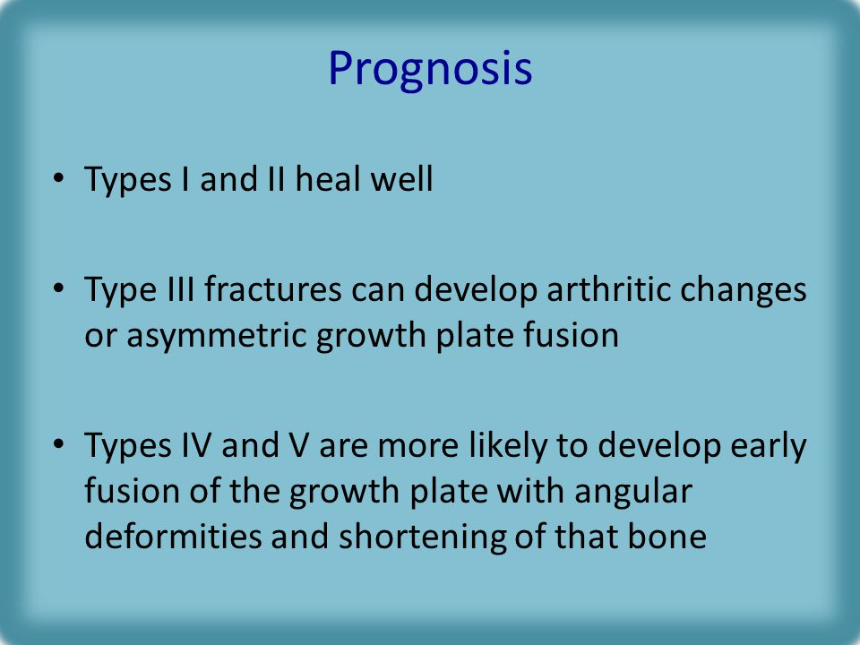 Prognosis Types I and II heal well
