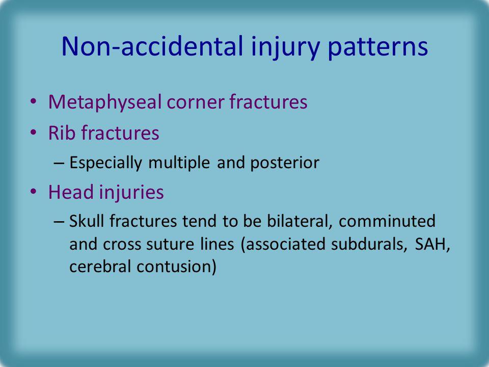 Non-accidental injury patterns