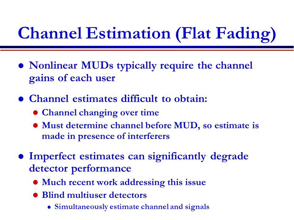 Channel Estimation (Flat Fading)