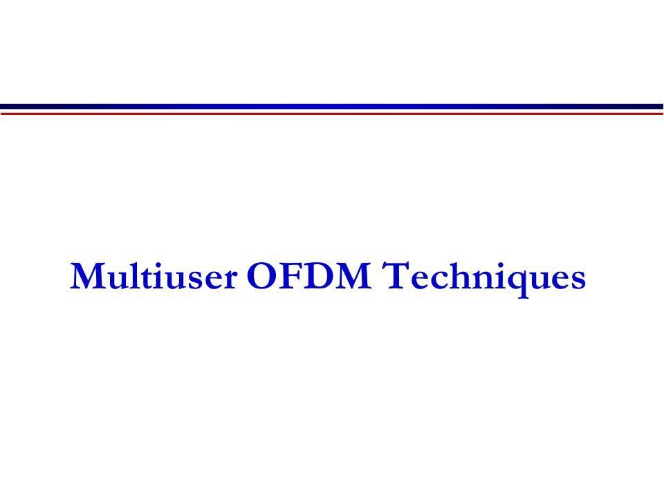 Multiuser OFDM Techniques