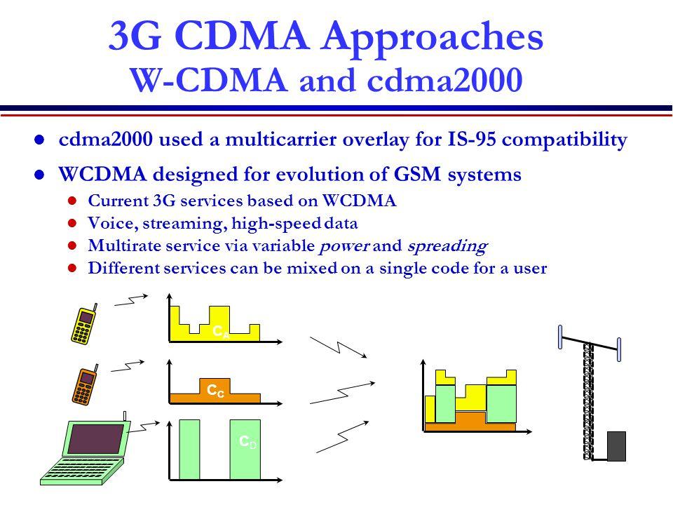 3G CDMA Approaches W-CDMA and cdma2000