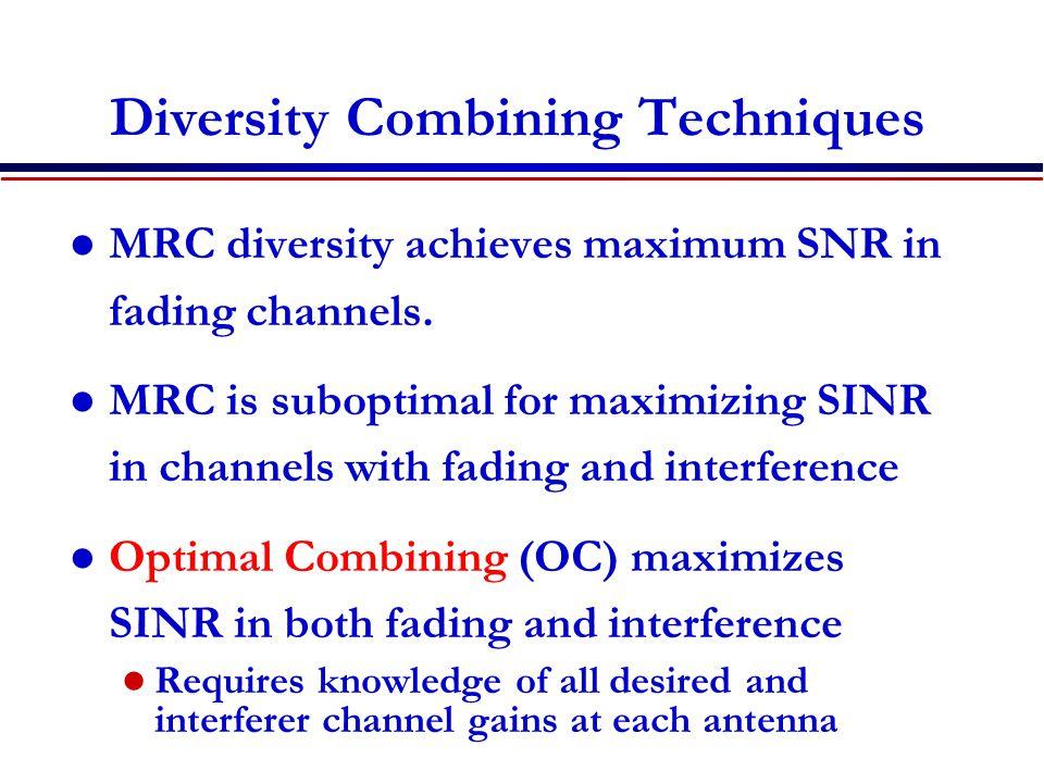 Diversity Combining Techniques