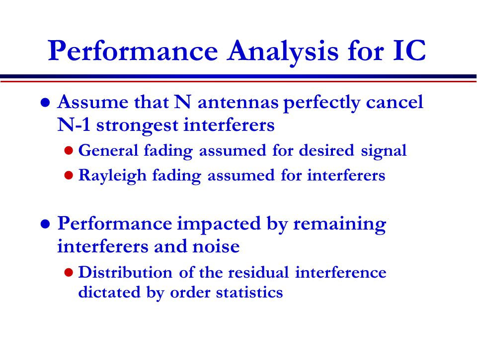 Performance Analysis for IC