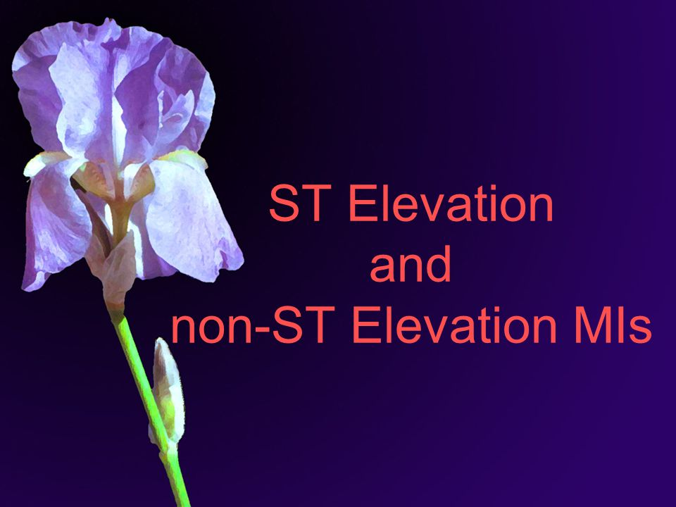 ST Elevation and non-ST Elevation MIs