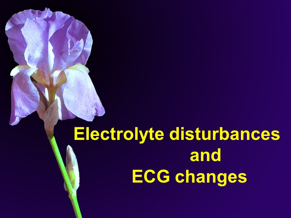 Electrolyte disturbances and