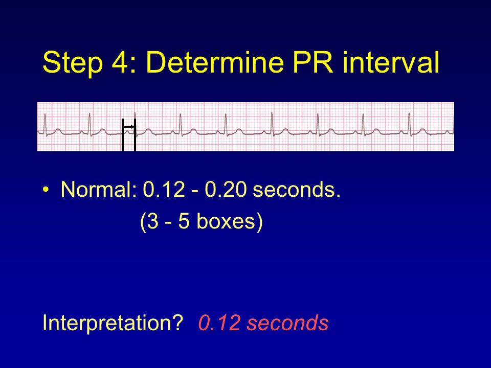 Step 4: Determine PR interval