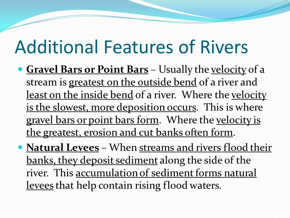 Additional Features of Rivers