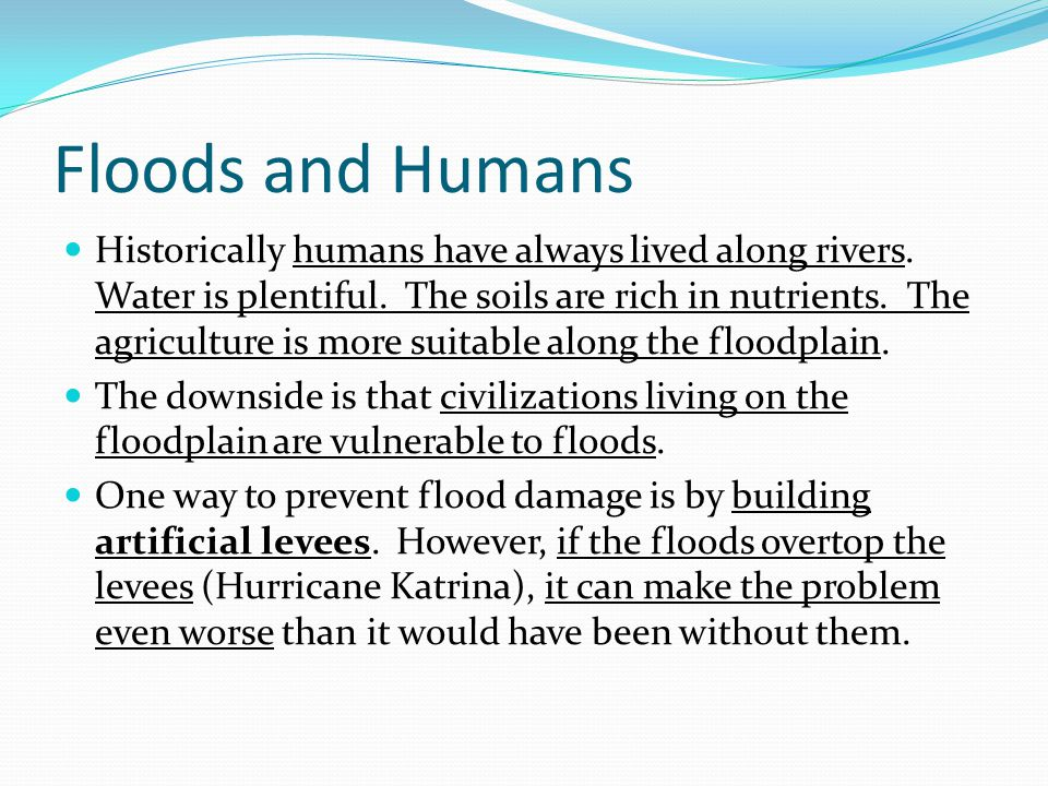 Floods and Humans