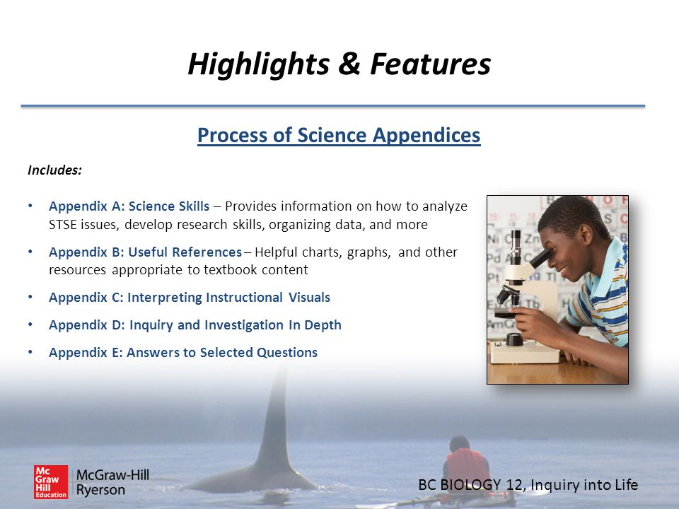 Process of Science Appendices