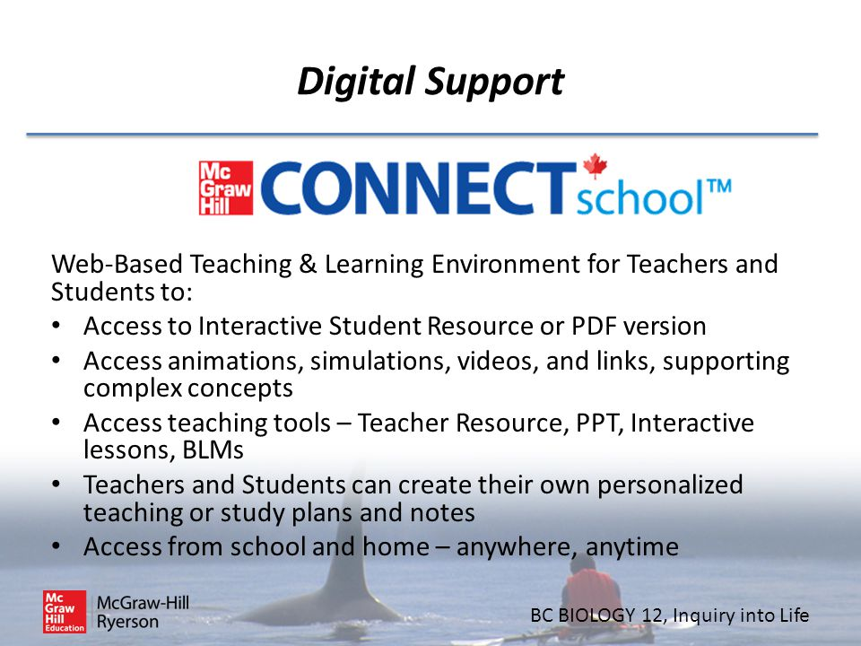 Digital Support Web-Based Teaching & Learning Environment for Teachers and Students to: Access to Interactive Student Resource or PDF version.