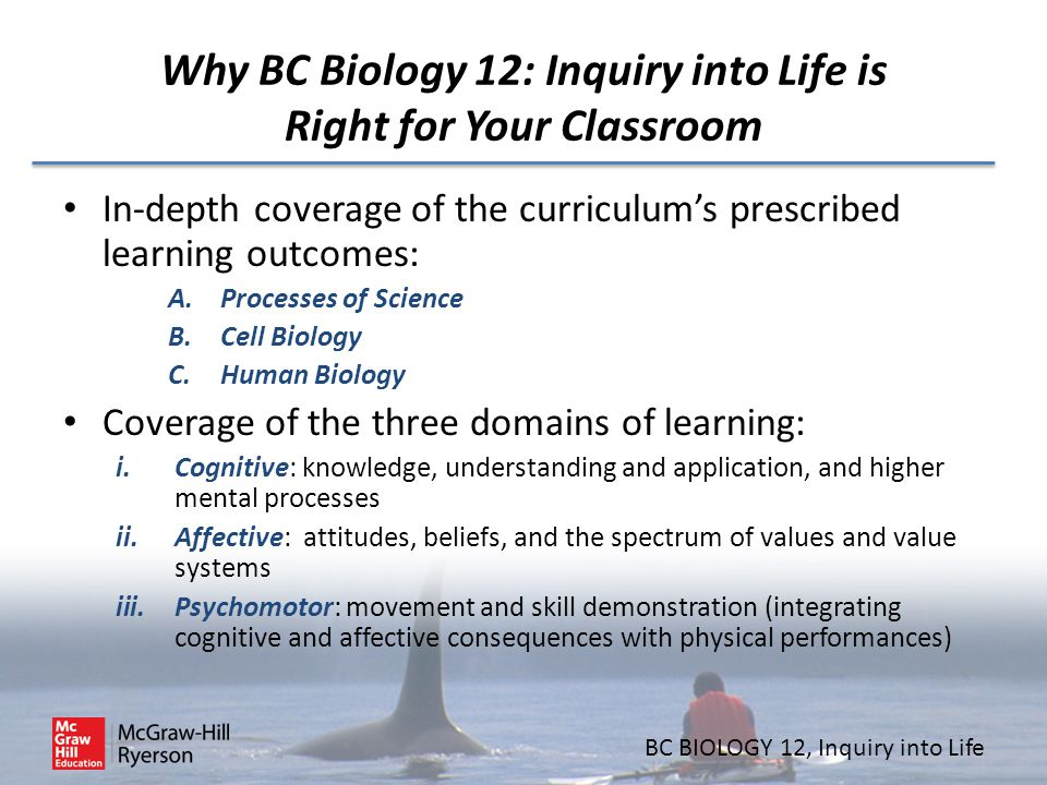 Why BC Biology 12: Inquiry into Life is Right for Your Classroom