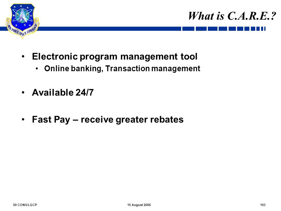 What is C.A.R.E. Electronic program management tool Available 24/7