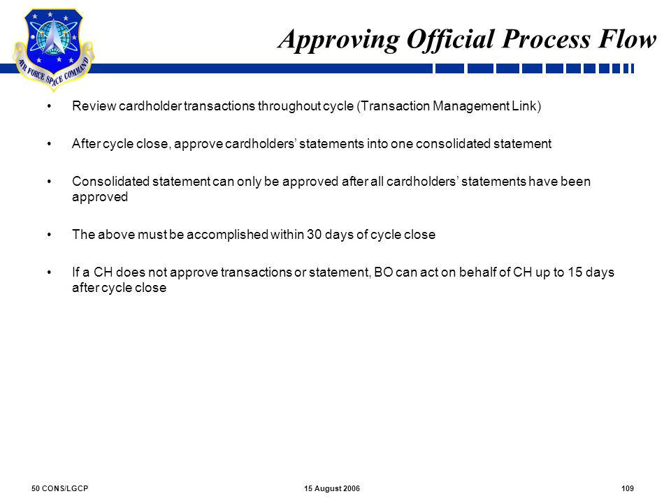 Approving Official Process Flow