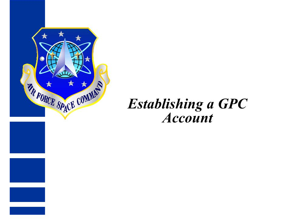 Establishing a GPC Account
