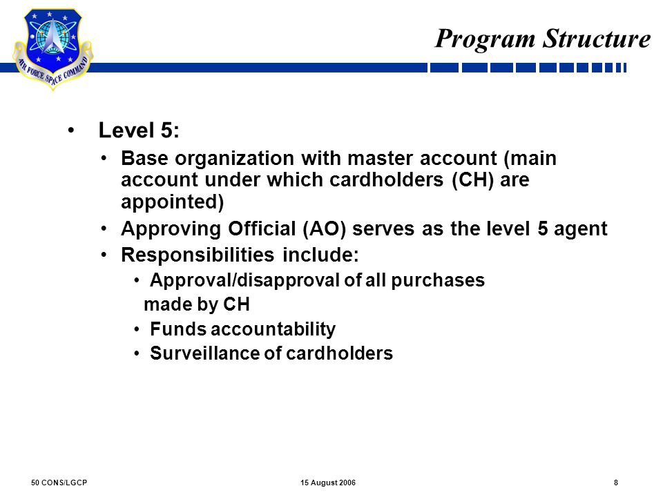 Program Structure Level 5:
